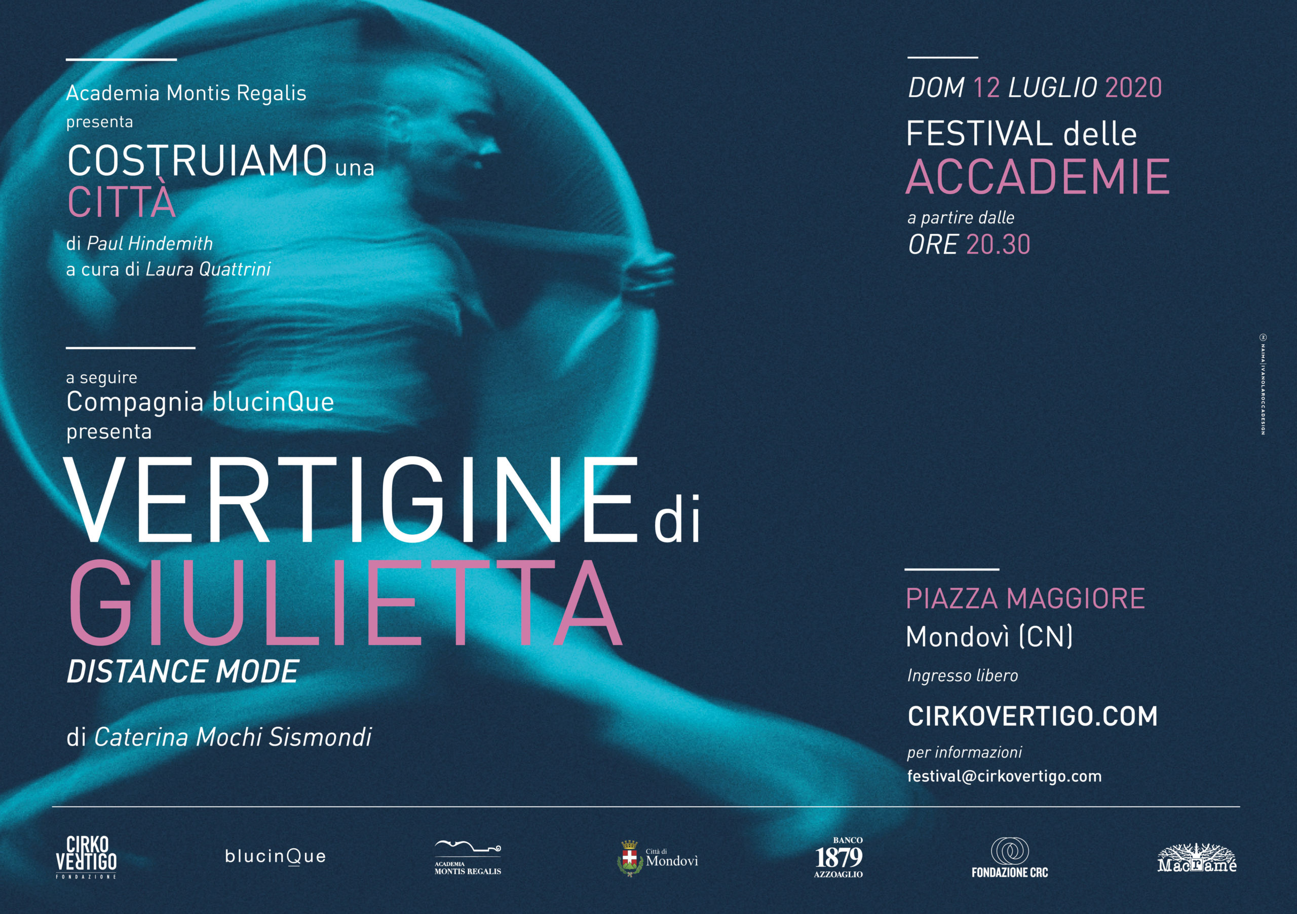 Vertigine di Giulietta – Distance mode / blucinQue - Card Mondovì